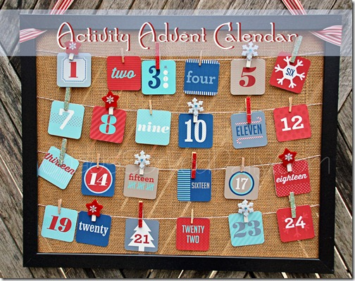 Advent Activities Calendar Chaos Served Daily