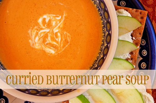 Curried Butternut-Pear Soup | Chaos Served Daily